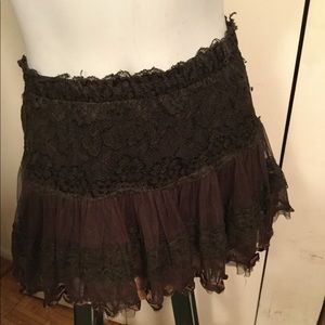 Lace puffy skirt. Very girly and cute.